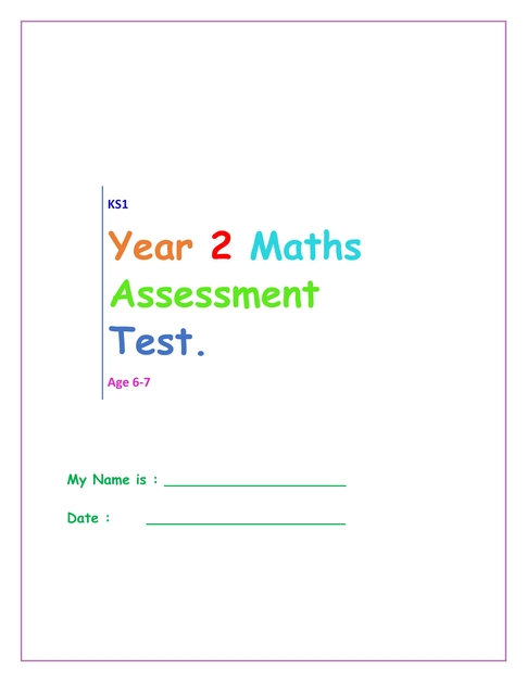 Year 2 Age 6 7 Maths Assesment Test Workbook 001