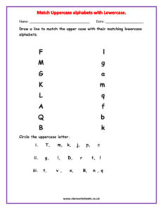 Match the alphabets 1 pdf