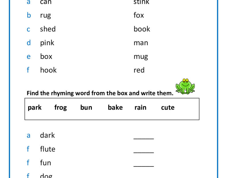 thumbnail of rhyming-words-year-1
