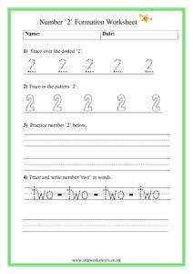 Number 2 formation pdf